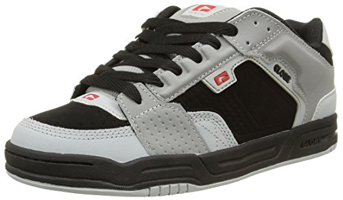 GlobeScribe - Sneaker Uomo , Multicolore (Multicolore (Black/Grey/Red)), 42