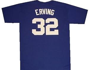 New York Nets Julius Erving Throwback Royal Blue Shirt by adidas
