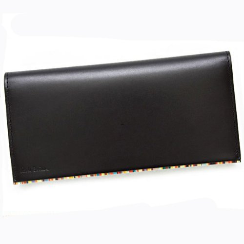 ポールスミス paul smith 財布 ブラック×マルチストライプ PSU056-990 長財布 メンズ レザー 本革