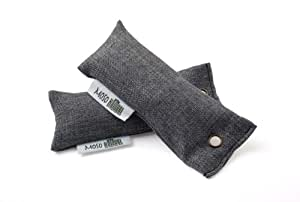 Mini Moso Natural Air Purifying Bag, Charcoal, 50gm, Pack of 2, 100-Percent Bamboo Charcoal