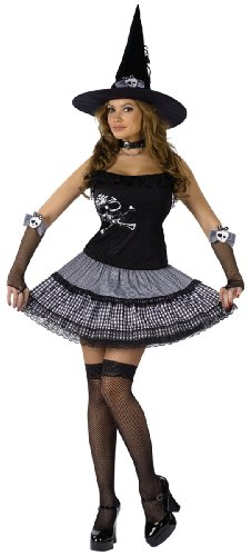 New Funky Punk Witch Costume with Hat