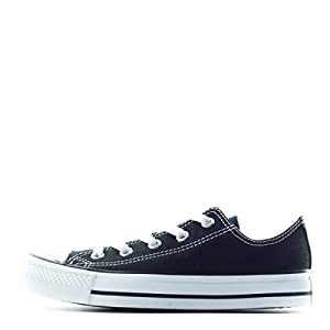 Converse Men's All Star OX, BLACK/BLACK, 5 M US