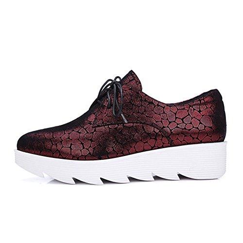 Autunno scarpe/Punto platform platform shoes/Scarpe donne di grandi dimensioni/scarpe casual-A Longitud del pie=22.3CM(8.8Inch)