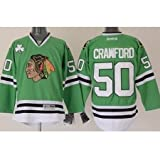Corey Crawford Chicago Blackhawks Kelly Green Premier Jersey by Reebok Select Size: 2Xlarge (2XL)
