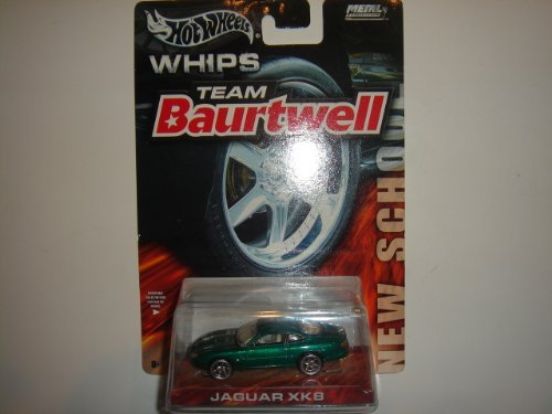 2004 Hot Wheels Whips Team Baurtwell New School Jaguar XK8 Green - 1