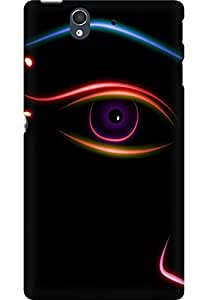 AMEZ designer printed 3d premium high quality back case cover for Sony Xperia Z (abstract eye)