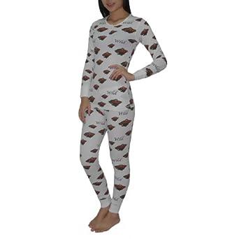 Amazon.com: 2PC SLEEPWEAR SET: NHL Minnesota Wild Womens Pajama Medium