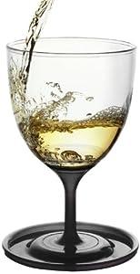 Asobu Stack N Go Vino Wine Glasses, Black, Set of 2 by AdNArt