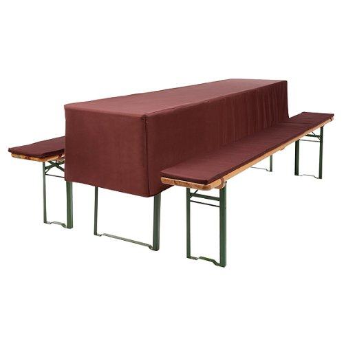3 tlg bierzeltgarnitur mit tischhusse f r 70cm tische. Black Bedroom Furniture Sets. Home Design Ideas