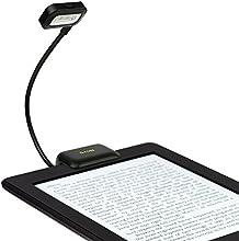 iKross LED Luz Clip, LED Lámpara, Luces de Lectura, portátil de cuello flexible para tabletas, libros electrónicos, libros, ordenadores portátiles y más (Negro)