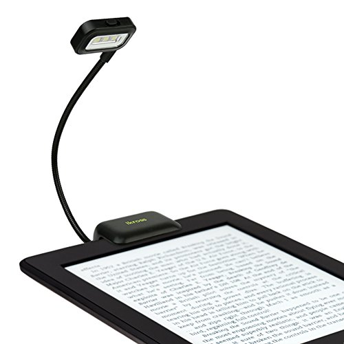 iKross Black Dual LED Clip-On Reading Light for eBook Readers, Tablet, Smartphone, Cell Phone