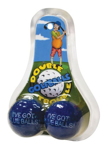Big Mouth Toys Double Trouble Golf Balls Blue Balls
