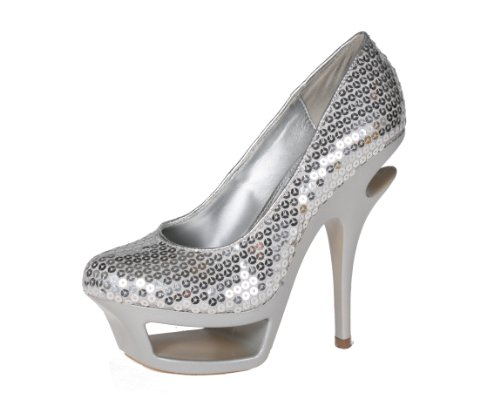 Story ELIZA-01 Women's Platform Round Toe Pump with Sequins Upper and Arch Supported Platform