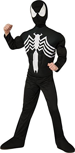 Rubie's Marvel Ultimate Spider-Man / Venom Deluxe Muscle Chest Black Costume, Child Large - Large One Color