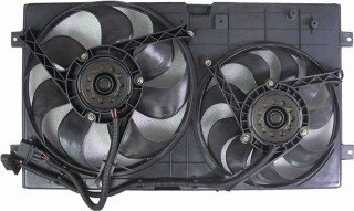 QP V7119-a Volkswagen Beetle Replacement AC A/C Condenser Radiator Cooling Fan/Shroud Assembly