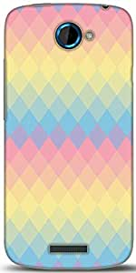 Snoogg Rainbow Clear Colourful Designer Protective Back Case Cover For HTC One S