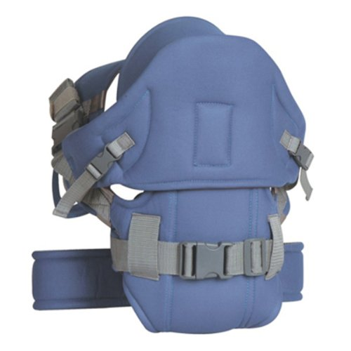 Deluxe Blue Baby Carrier with extra protection - baby carrier from carriersforbaby.com