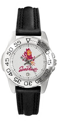 Arizona State University Sun Devils Ladies Leather Sports Watch