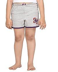 Punkster Grey Melange Basic Shorts