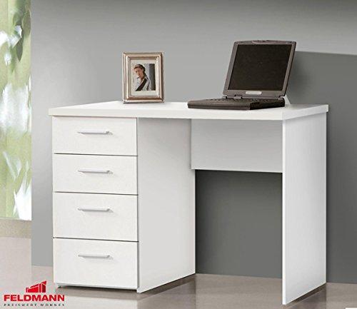 Schreibtisch PC Tisch 62421 weiß matt 110cm