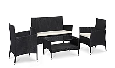 Home Arena Garden Rattan Furniture Set Available in Black or Brown