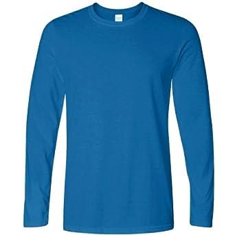 T-shirt uni à manches longues Gildan pour homme (S) (Bleu royal)