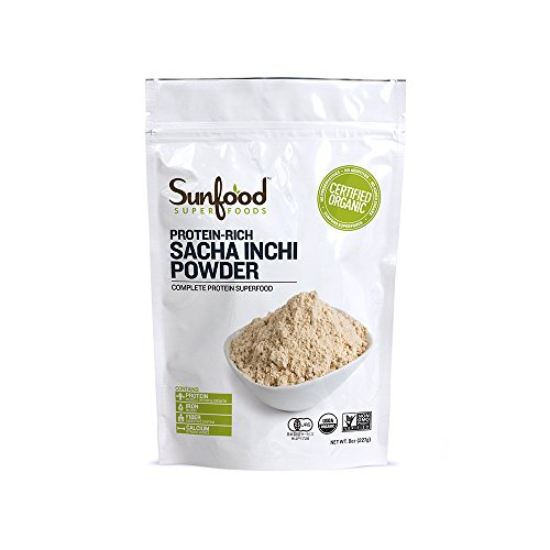 Sunfood Organic Sacha Inchi Protein Powder -- 8 Oz