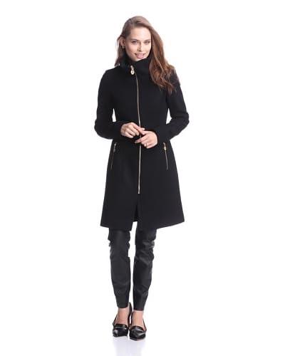 Elie Tahari Women's Loraina Coat with Stand Collar