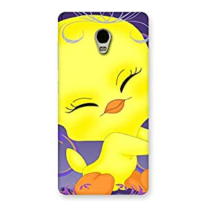 Special Yellow Tweet Back Case Cover for Lenovo Vibe P1