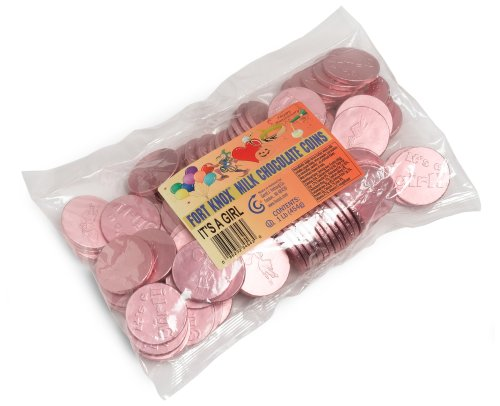 Fort Knox Chocolate Coins, It's A Girl, 16-Ounce Bag