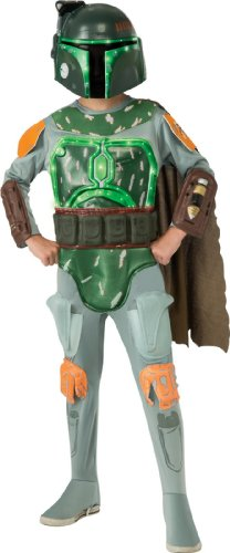 Star Wars Deluxe Light-Up Boba Fett Child Costume - Large (12-14)
