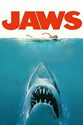Jaws Classic Movie Silk Fabric cloth Wall Poster Home Bedroom Decor Picture 24x36inch (Classic Movie Pictures compare prices)