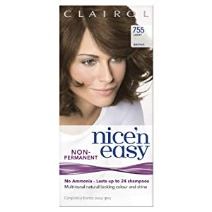 Clairol Nice'n Easy By Lasting Colour Non Permanent Hair Colour - 755 Light Brown