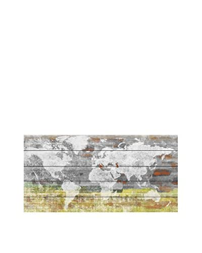 Marmont Hill Continental View White Pine Wood Wall Art