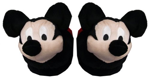 Cheap Mickey Mouse Disney Face Cartoon Adult Plush Mens Slippers (ECCL7009)