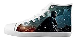 Renben Kids Girl\'s Batman Canvas Shoes Lace-up High-top Sneakers Fashion Running Shoes