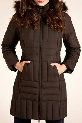 Per Una Faux Fur Detachable Hood Longline Jacket [T62-7908G-S]