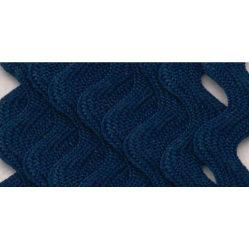Sale!! Wrights 117-401-055 Polyester Rick Rack Trim, Navy, Medium, 2.5-Yard