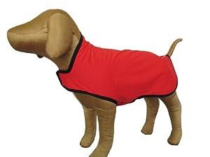 Gold Paw Series Rain Paw Dog Rain Coat, Size 8, Red