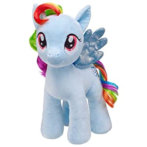Build a Bear Workshop, 16 in. RAINBOW DASH® My Little Pony Stuffed Animal