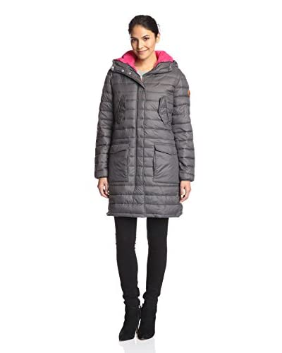 Save the Duck Women's Long Puffer Coat with Hood