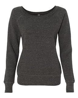 Bella 7501 Ladies Mia Slouchy Wideneck Fleece - Charcoal Triblend - XL