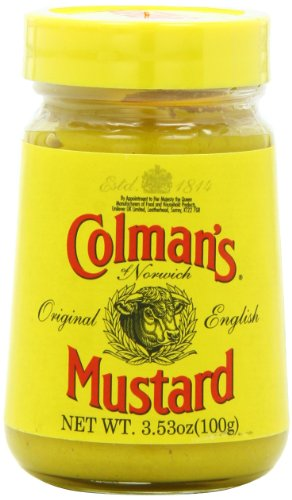 Colmans Original English Prepared Mustard, 3.53-Ounce Jars (Pack of 6)