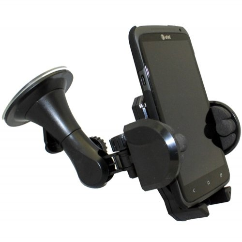 Xenda Car Mount Universal Cell Phone Holder Windshield Suction Cup Dock For Samsung Dart - Samsung Double Time - Samsung Galaxy Stellar - Samsung Galaxy Express - Samsung Showcase I500 front-964881