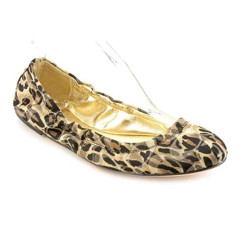 Coach Aly Womens Size 8 5 Brown Textile Ballet Flats Shoes