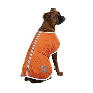 Zack & Zoey Polyester Nor'easter Dog Blanket Coat, Small, Orange