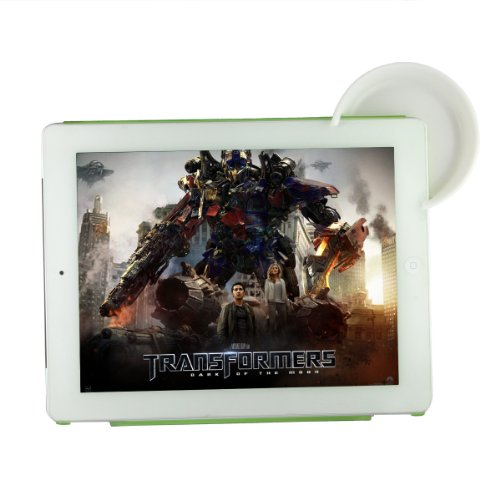 Bao Xin New Design Loudspeaker Without Electricity For Ipad 1 2 3 4 ,Creative Ipad Ear Voice Centralize Kit (White)