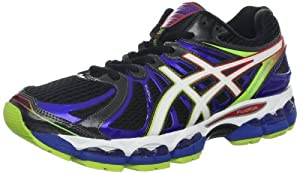 ASICS Men's GEL-Nimbus 15 Running Shoe,Black/White/Multi,12.5 M US