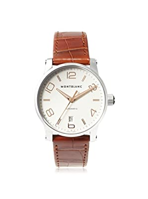 Mont Blanc Men's 105813 TimeWalker White Stainless Steel Watch