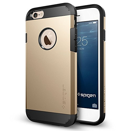 iPhone 6 ケース, Spigen®  [エアクッションテクノロジー] Apple iPhone 4.7 (2014) タフ・アーマー The New iPhone アイフォン6 (国内正規品) (シャンパン・ゴールド SGP10970)